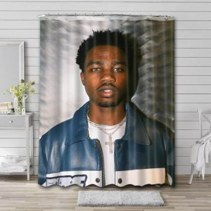Roddy Ricch Shower Curtain Waterproof Polyester Fabric