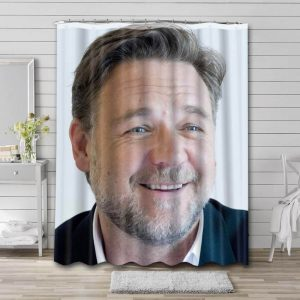 Russell Crowe Movies Shower Curtain Waterproof Polyester Fabric