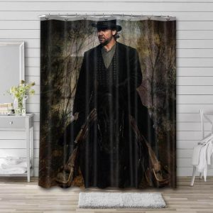 Russell Crowe Cowboys Shower Curtain Waterproof Polyester Fabric