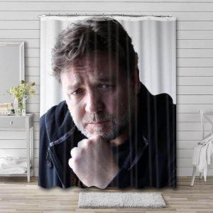 Russell Crowe Shower Curtain Bathroom Decoration Waterproof Polyester Fabric.