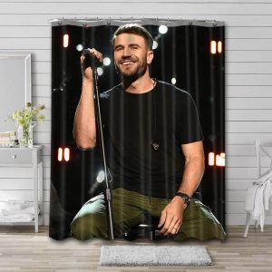 Sam Hunt Live Shower Curtain Waterproof Polyester Fabric
