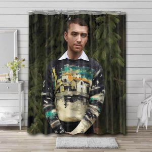 Sam Smith Singer Shower Curtain Waterproof Polyester Fabric