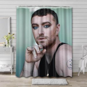 Sam Smith Shower Curtain Waterproof Polyester Fabric