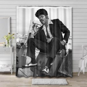 Samuel L. Jackson Young Bathroom Shower Curtain Waterproof Polyester