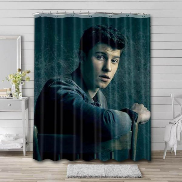 Shawn Mendes Photo Shower Curtain Waterproof Polyester Fabric