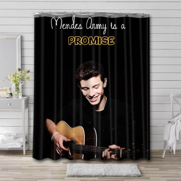 Shawn Mendes Is A Promise Shower Curtain Waterproof Polyester Fabric