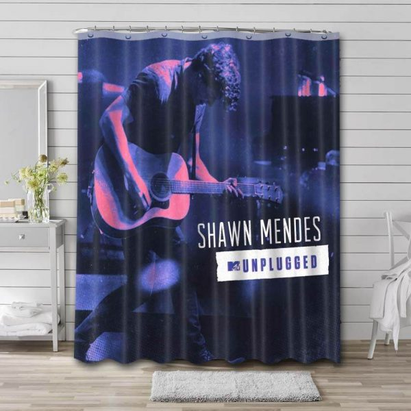 Shawn Mendes Unplugged Bathroom Curtain Shower Waterproof Fabric