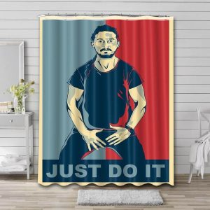 Shia LaBeouf Just Do It Shower Curtain Waterproof Polyester Fabric