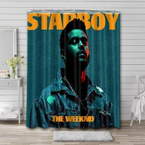 The Weeknd Starboy Shower Curtain Waterproof Polyester Fabric
