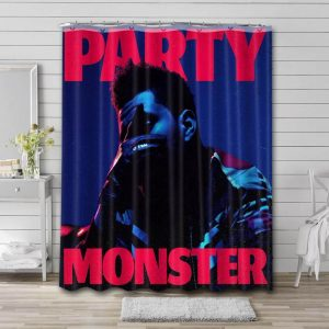 The Weeknd Party Monster Bathroom Shower Curtain Waterproof Polyester