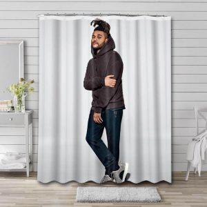 The Weeknd Shower Curtain Bathroom Decoration Waterproof Polyester Fabric.