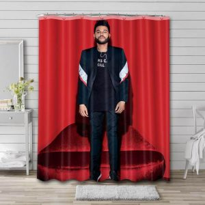 The Weeknd Photo Shower Curtain Waterproof Polyester Fabric