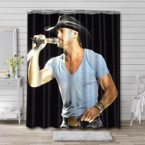 Tim McGraw Country Shower Curtain Waterproof Polyester Fabric