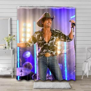 Tim McGraw Stage Shower Curtain Waterproof Polyester Fabric