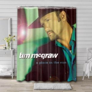 Tim McGraw Place In The Sun Waterproof Curtain Bathroom Shower