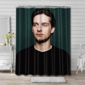 Tobey Maguire Meme Face Bathroom Curtain Shower Waterproof Fabric
