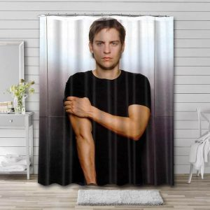 Tobey Maguire Shower Curtain Waterproof Polyester Fabric