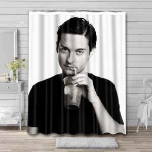 Tobey Maguire Bathroom Shower Curtain Waterproof Polyester