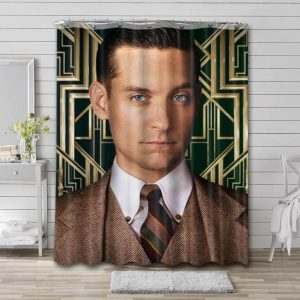 Tobey Maguire Shower Curtain Bathroom Decoration Waterproof Polyester Fabric.