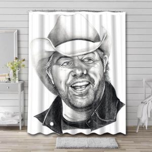 Toby Keith Shower Curtain Waterproof Polyester Fabric