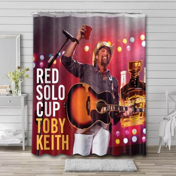 Toby Keith Red Solo Cup Shower Curtain Bathroom Decoration