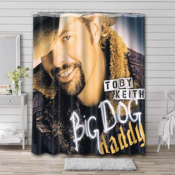 Toby Keith Big Dog Daddy Shower Curtain Waterproof Polyester Fabric