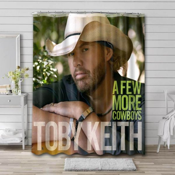Toby Keith A Few More Cowboys Bathroom Shower Curtain Waterproof Polyester