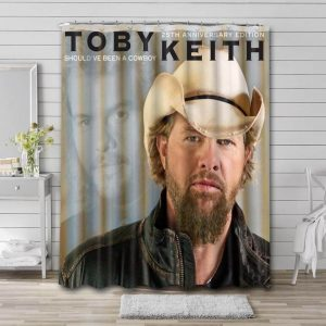 Toby Keith Should've Been A Cowboy Bathroom Curtain Shower Waterproof Fabric