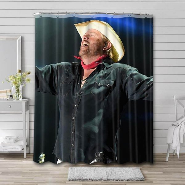 Toby Keith Singer Shower Curtain Waterproof Polyester Fabric