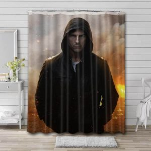 Tom Cruise Mission Impossible Shower Curtain Bathroom Decoration