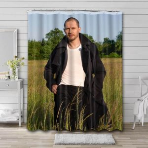 Tom Hardy Hollywood Shower Curtain Waterproof Polyester Fabric