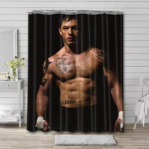 Tom Hardy Body Shower Curtain Waterproof Polyester Fabric
