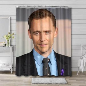Tom Hiddleston Hollywood Shower Curtain Waterproof Polyester Fabric