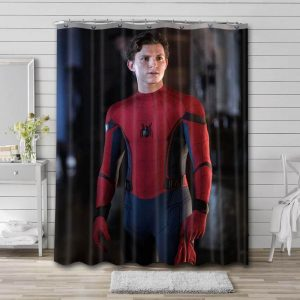 Tom Holland Spider Man Shower Curtain Waterproof Polyester Fabric