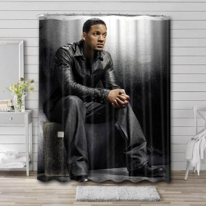 Will Smith Shower Curtain Bathroom Decoration Waterproof Polyester Fabric.