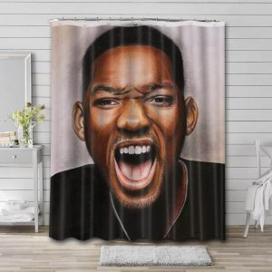 Will Smith Face Bathroom Shower Curtain Waterproof Polyester