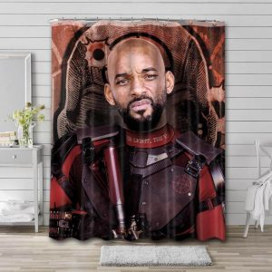 Will Smith Suicide Squad Shower Curtain Waterproof Polyester Fabric