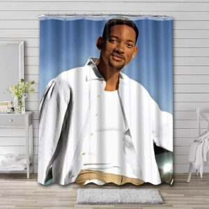 Will Smith Actor Bathroom Shower Curtain Waterproof Polyester