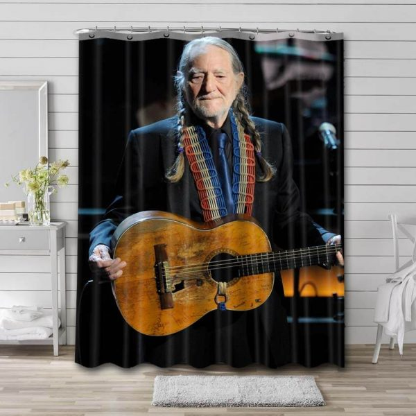 Willie Nelson Shower Curtain Waterproof Polyester Fabric