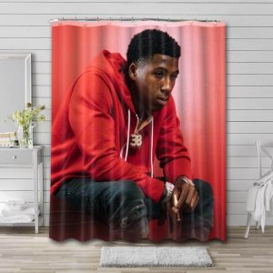 YoungBoy Never Broke Again Photo Shower Curtain Waterproof Polyester Fabric