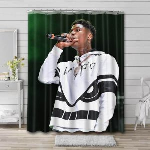 YoungBoy Never Broke Again Shower Curtain Waterproof Polyester Fabric