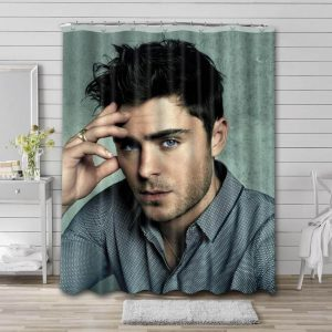Zac Efron Shower Curtain Waterproof Polyester Fabric